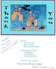 Miller Childrens Hospital Thank You Letter