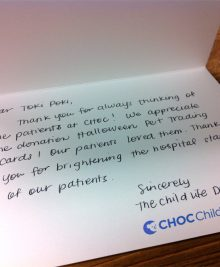 Orange County Children's Hospital Note
