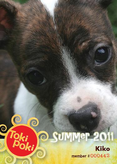 Kiko (member #442) Toki Poki Pet Trading Card