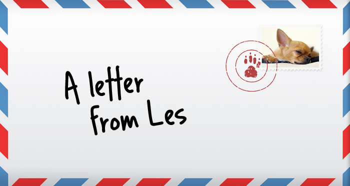A letter from Les