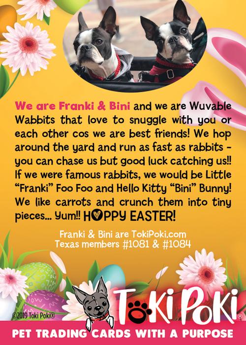 Bini (member #1084) and Franki (member #1081)