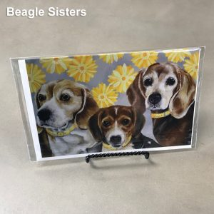 Beagle Sisters - Elizabeth Elequin Art Greeting Cards