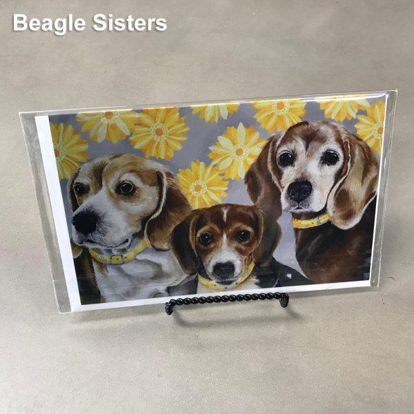 Beagle Sisters - Elizabeth Elequin Art Greeting Cards