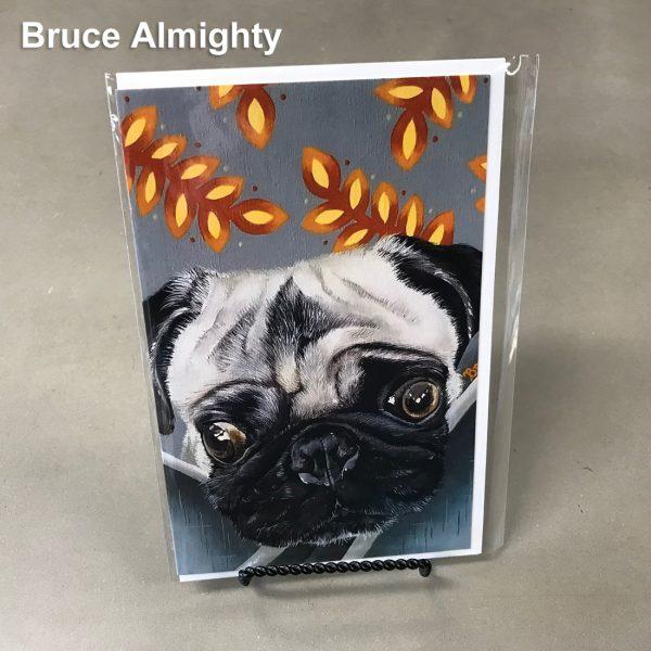 Bruce Almighty - Elizabeth Elequin Art Greeting Cards