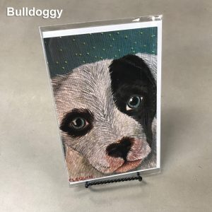 Bulldoggy - Elizabeth Elequin Art Greeting Cards