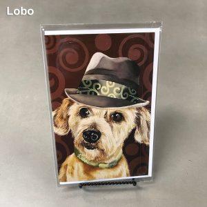 Lobo - Elizabeth Elequin Art Greeting Cards
