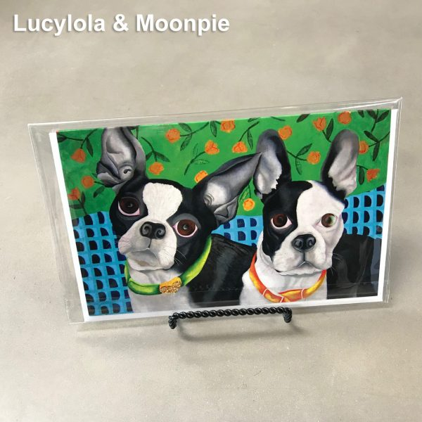 Lucylola and Moonpie - Elizabeth Elequin Art Greeting Cards