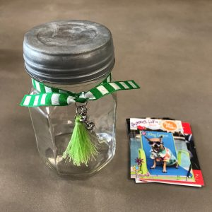 Dog Bone Keepsake Jar Stripes